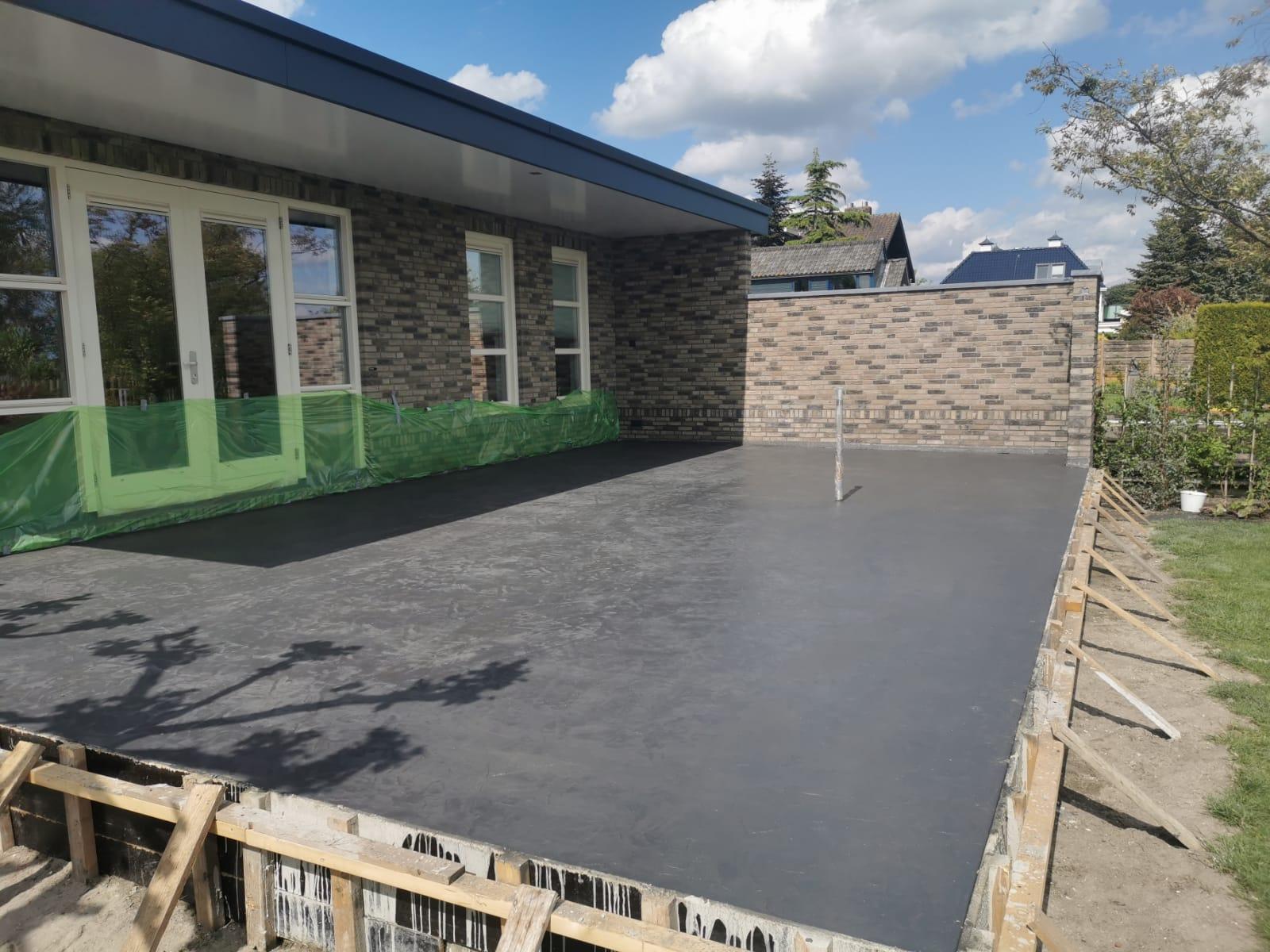Gevlinderd beton terras